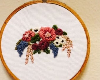 "4"" Floral Embroidery"