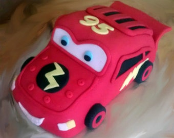 Fondant Cars Lightening McQueen Cake Topper