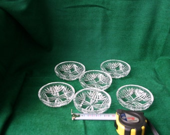 Vintage crystal small dessert plates set of 6