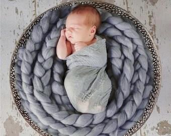 Newborn (Wool) Photo shoot Blanket.