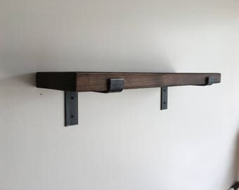 SET OF 2 - Modern Industrial Shelf, Industrial Shelves, Rustic Shelf, Rustic shelves, Iron Brackets