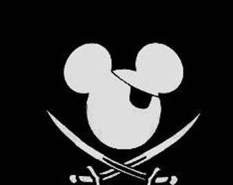 Pirate Mickey/Minnie Decal