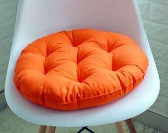 soft canvas round chair cushion seat pad for patio home car office floor pillow with insert filling memory foam futon cushions - Office Chair Seat Cushion