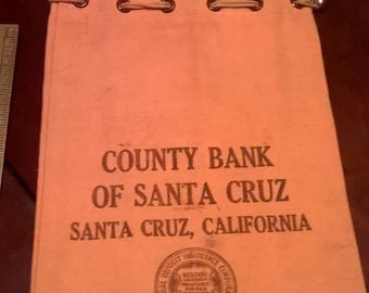 County Bank of Santa Cruz CA Canvas Bag