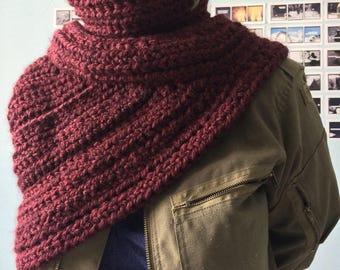 Crochet Warrior Vest - Claret