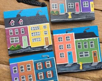 Wood Coasters Newfoundland Row Houses