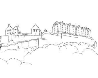 Edinburgh Castle C Print