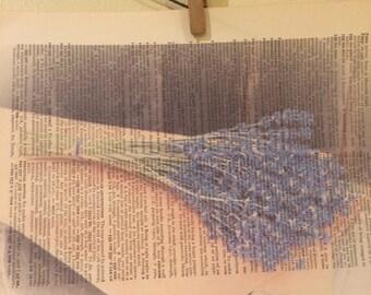 Lovely bunch of lavender book art