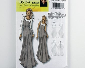 Butterick Pattern 5154 Evening Dress, Size XS, S, M, L, Xl, Uncut Easy Sewing Pattern, Multi-Sized for Custom Fit, Princess Style Dress