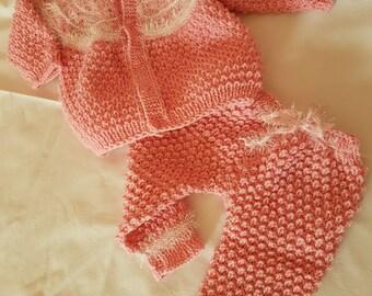 Handknit baby set