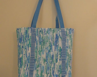 Handwoven Tote Bag Using Recyclable Materials