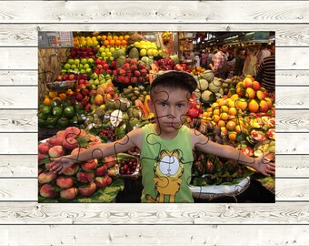 """Custom Jigsaw Puzzle Perfect Present  Personalized Gift. Custom Photo puzzle  24 pieces.  5.12"""" x 7.08"""" (13 x 18 cm)"""