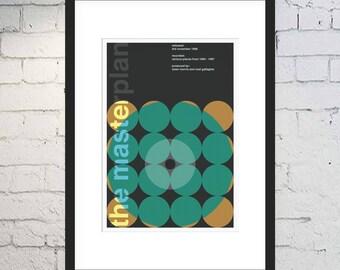 The Masterplan Print / Oasis Fan Art / Swiss Style / Music Print / Framed or Unframed / Geometric / Minimal Poster / B-Sides / Noel