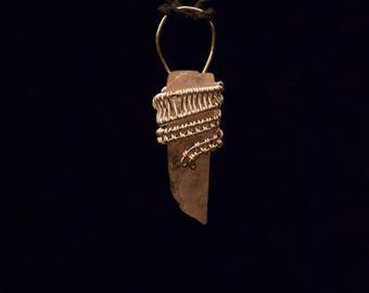 Beautiful- Rose quartz- Wire wrapped- Pendant