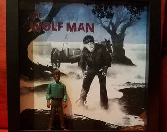 The Wolf Man Shadowbox with ACTION FIGURE
