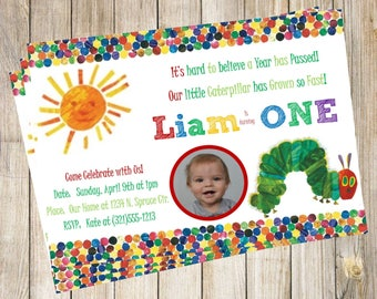 Very  Hungry Caterpillar Birthday Invitation