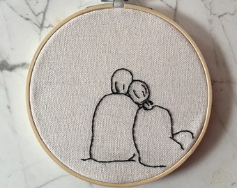 Together Embroidery | Hoop Embroidery | Hoop Art