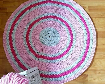 Handmade cotton rug