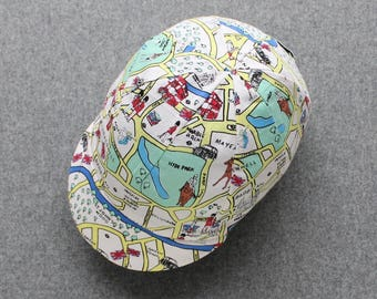 London illustrated map cycling cap