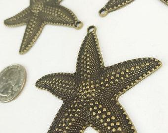 3 Antique Bronze Sand Dollar Charms