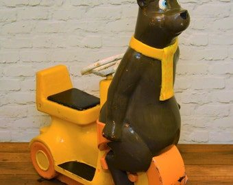 Fairground funfair bear vintage ride scooter circus antique industrial seating