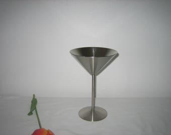Vintage Silver Plate Beautiful Condition Martini Glass 7 Inches