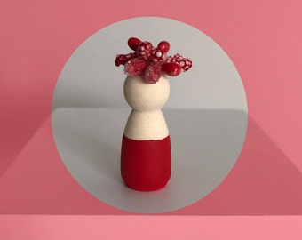 Red Miniature Peg Doll