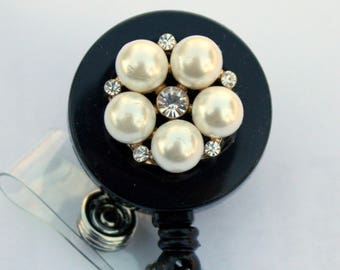pearls and crystals badge reels badge reel badge holders
