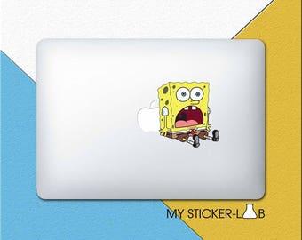 Spongebob MacBook Sticker Spongebob Squarepants MacBook Decal Spongebob Sticker Sponge Bob Decal Sponge Bob Laptop Vinyl Decal cmac255