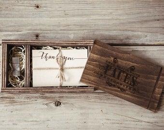 4 x 6 photo + USB box // photography box    wedding portraits    wedding gift    wedding box    keepsake box    wedding ideas    print box