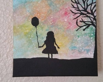 Girl with Ballon, PrettyPaintGoods