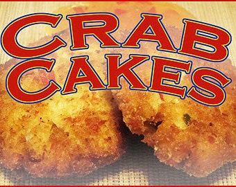 Crab Cakes Food Sign - Custom Restaurant Sign