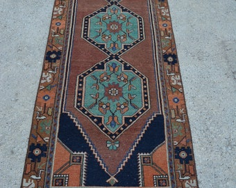 OUSHAK RUNNER RUG , Turkish Lovely Pale Area Vintage Rug -  3'0 x 9'7 Feet