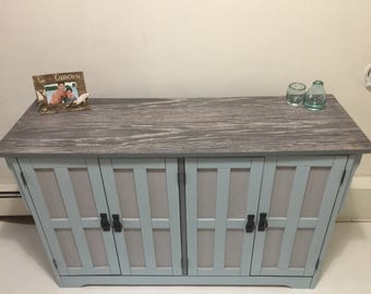 Coastal Antique Cabinet