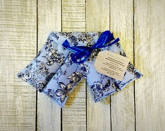 Microwave Heating Pad, Large Microwaveable Herbal Heating Pillow, Rice and Flax Seed Heat Pack, Herbal Lavender Peppermint Heat Bag, Hot and