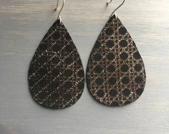Broadway Leather Earrings