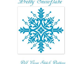 Large Cross Stitch Snowflake pattern digital pdf, cross stitch designs, counted cross stitch, cross stitch chart, cross stitch snowflake