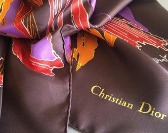 "Scarf ""Dior"" 100% authentic vintage silk"
