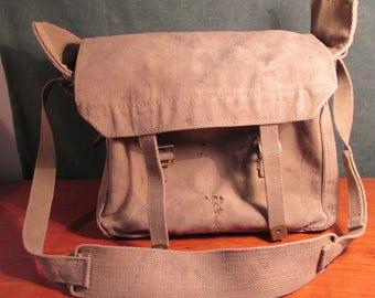Vintage~Ammo/Medical Thick Canvas Bag ~ With Shoulder Strap