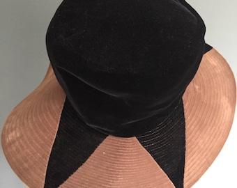 Vintage, Wide Brim, Velvet Hat