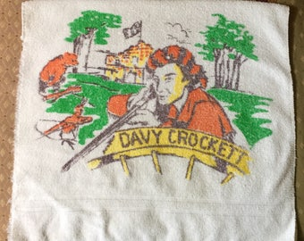Davy Crockett Vintage Towel by Cannon. Made in USA