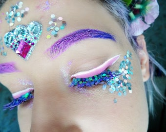 Unicorn glitter false eyelashes