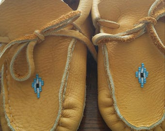 Bufflo hide moccasins (size 2 childs)