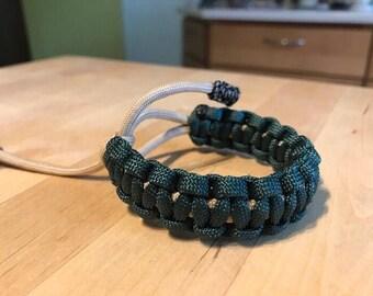 Green and Beige Cobra Knot Bracelet