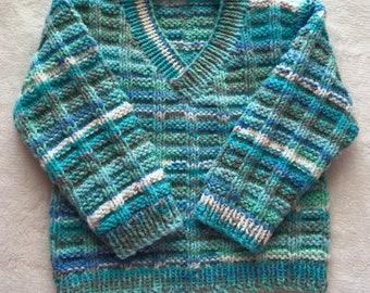 Sweater v-neck boy 0-6months