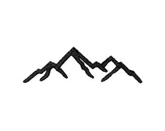 Mountains Machine Embroidery Design – Instant Download (PES, DST, and MORE)