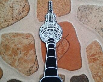 The berliner fernsehturm Tower berlin germany patch.
