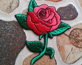 Red rose patch.