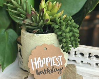 Happiest Birthday Gift Tag