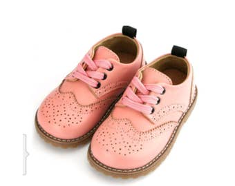 Pink Brogues genuine leather